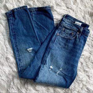 New Levi's 501 Skinny White Oak Denim Jeans